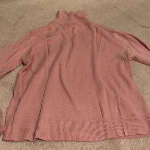 Sag Harbor Sweaters - Light pink long sleeve turtle neck.
